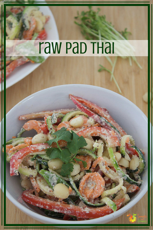 Raw Pad Thai is super quick to make - there's no cooking - plus you get a heap of health benefits with traditional flavours.