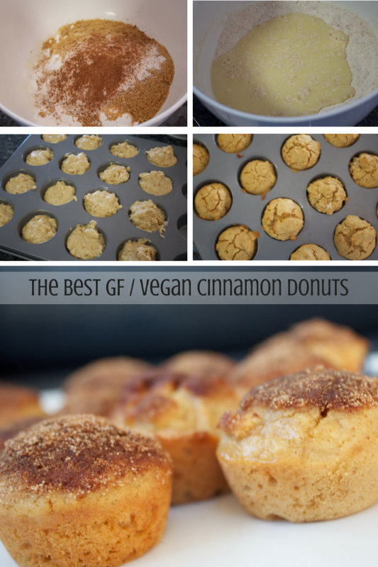 I have been experimenting with vegan donuts and today I made some baked donuts – a batch of gluten free and a batch of regular, let's just say Mmmm donuts!