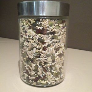 The Easiest way to add nutrients to smoothies is with this amazing seed crunch. Make up a big jar and always have it on hand to add nutrients to smoothies