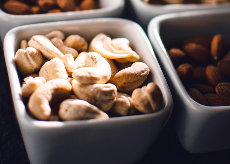Sweet cashew cream is a dairyfree alternative to dairy cream. It has the consistency of Greek yogurt and can be flavoured to suit the dish it's served with.