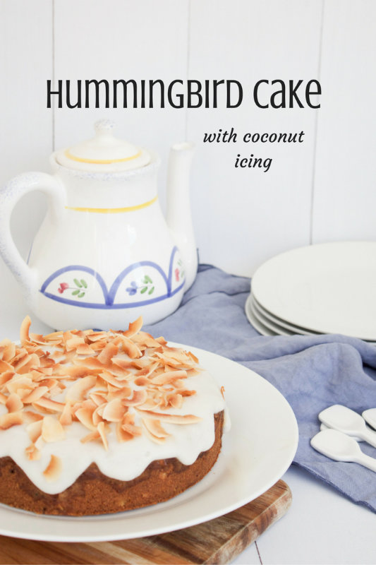 Hummingbird cake is the strangest name for the best tasting cake. Packed with fresh pineapple, crystallised ginger and crunchy walnuts.
