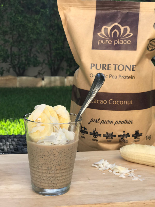 Chia puddings are the easiest snack to make. Just mix chia seeds, almond milk and protein powder together and allow to set for a high protein snack.